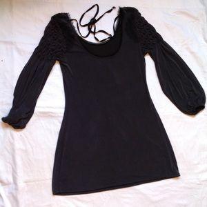 Free people boho lace dress shirt M
